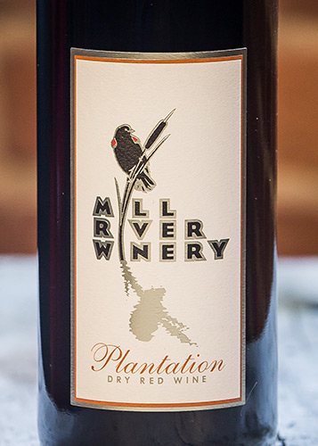 Plantation wine label by Mill River Winery