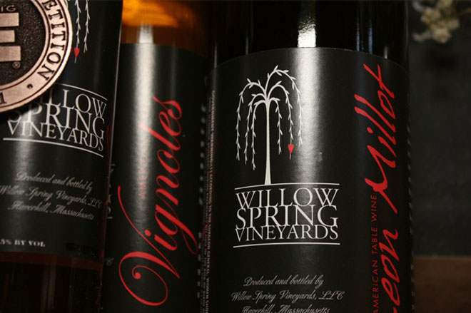 vignoles wine label by willow spring vineyards