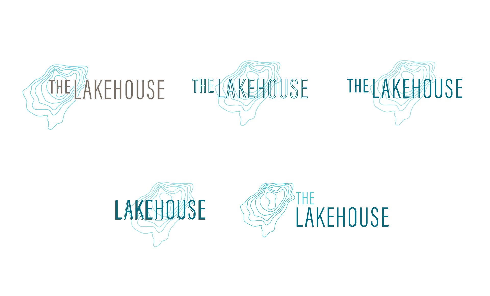 multifamily logo variations for the lakehouse